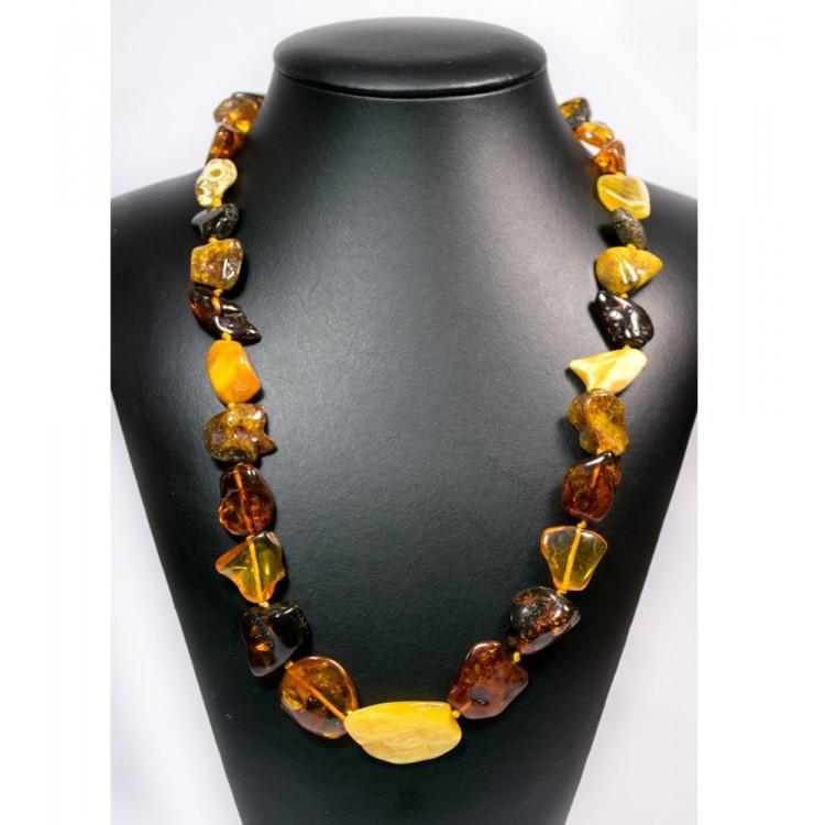 Collana Donna in Ambra multicolore