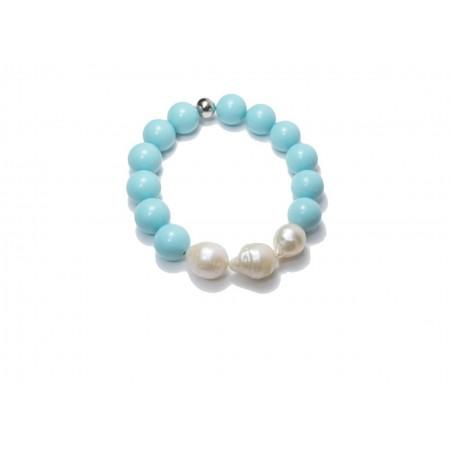 Bracciale  Donna in turchese con perle