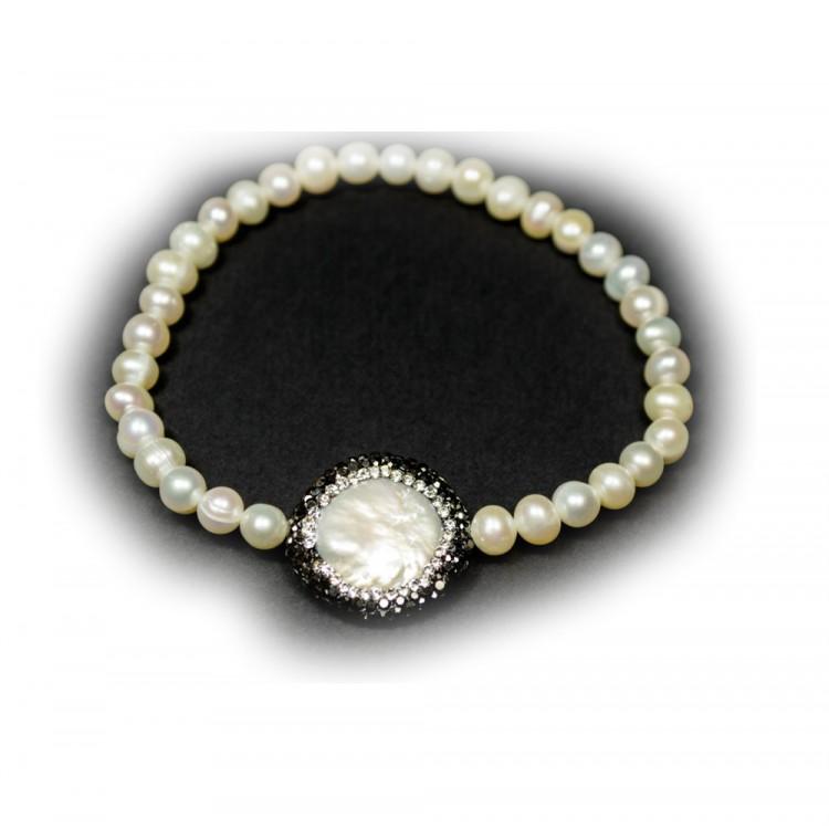 bracciale-donna-in-perle-con-centrale-pietra-in-marcassite