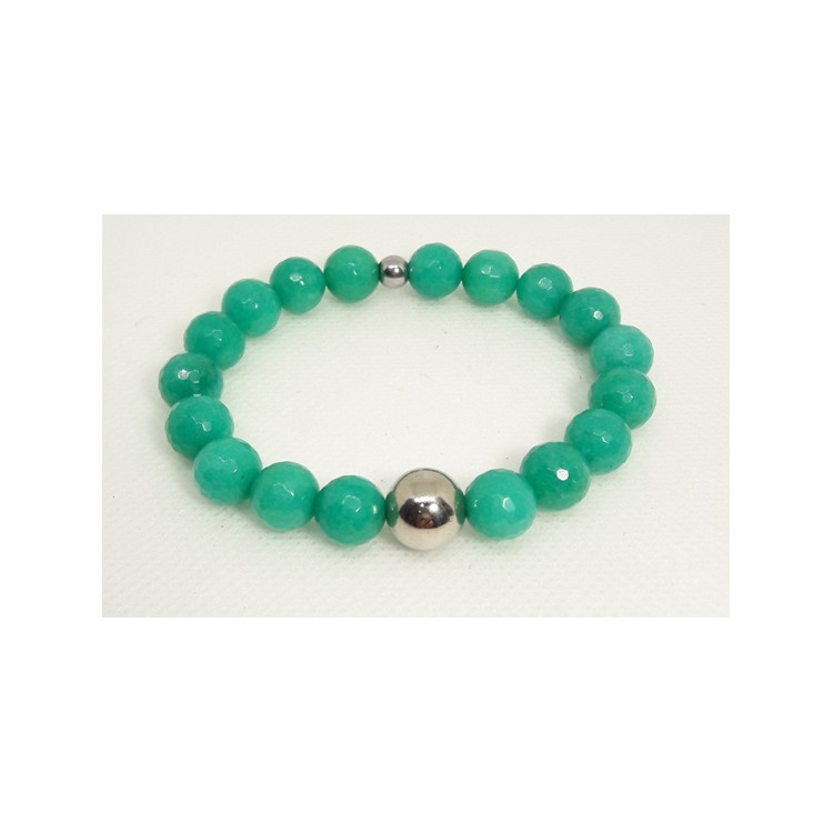 BRACCIALE  DONNA in Agata verde Tiffany BR 288