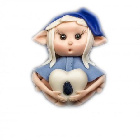 Elfo portafortuna acquario con Pietra LAPISLAZZULI