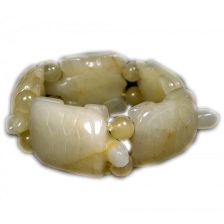 Bracciale realizzato in pietre semipreziose Opale giallo BR217