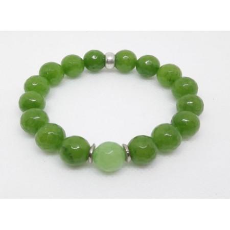 Bracciale Donna in agata verde BR283