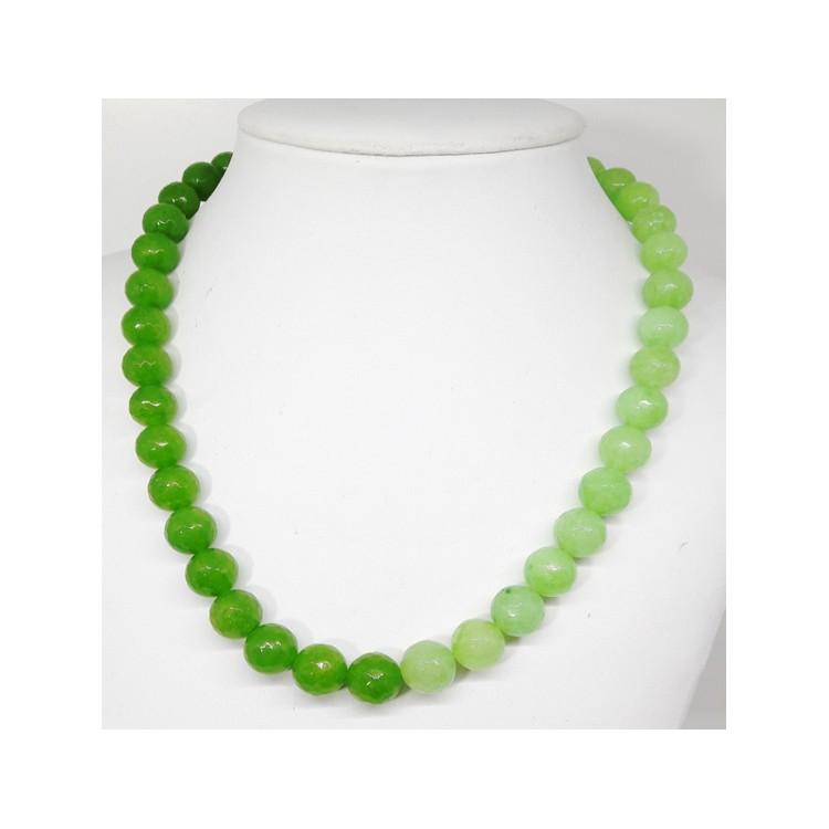 COLLANA  DONNA  in Agata Verde ck189